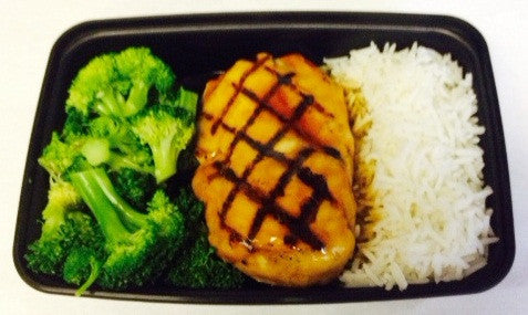 Complete Meal - Teriyaki Chicken with Broccoli and Rice