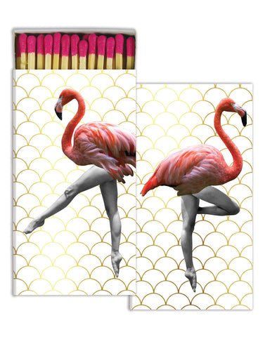 Can Can Flamingos Match Box
