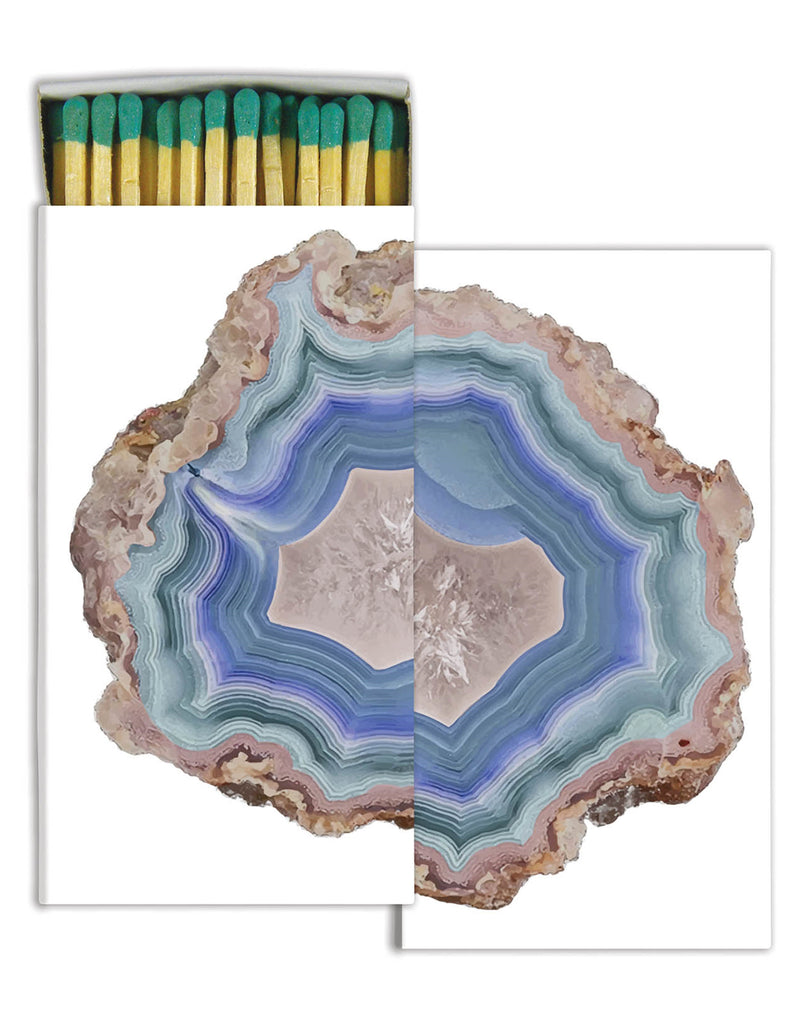 Blue Agate Match Box