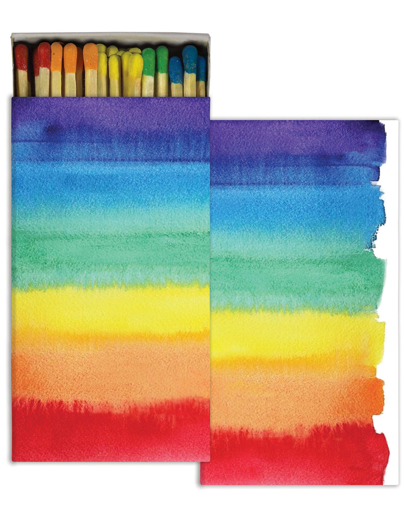 Watercolor Rainbow Match Box