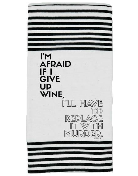 Wine Murder Terry Kitchen Towel