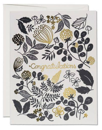 Clover Gold Congrats Card