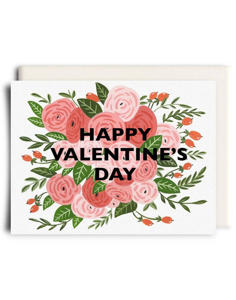 Valentine Flowers Card