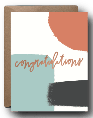 Abstract Congratulations Card