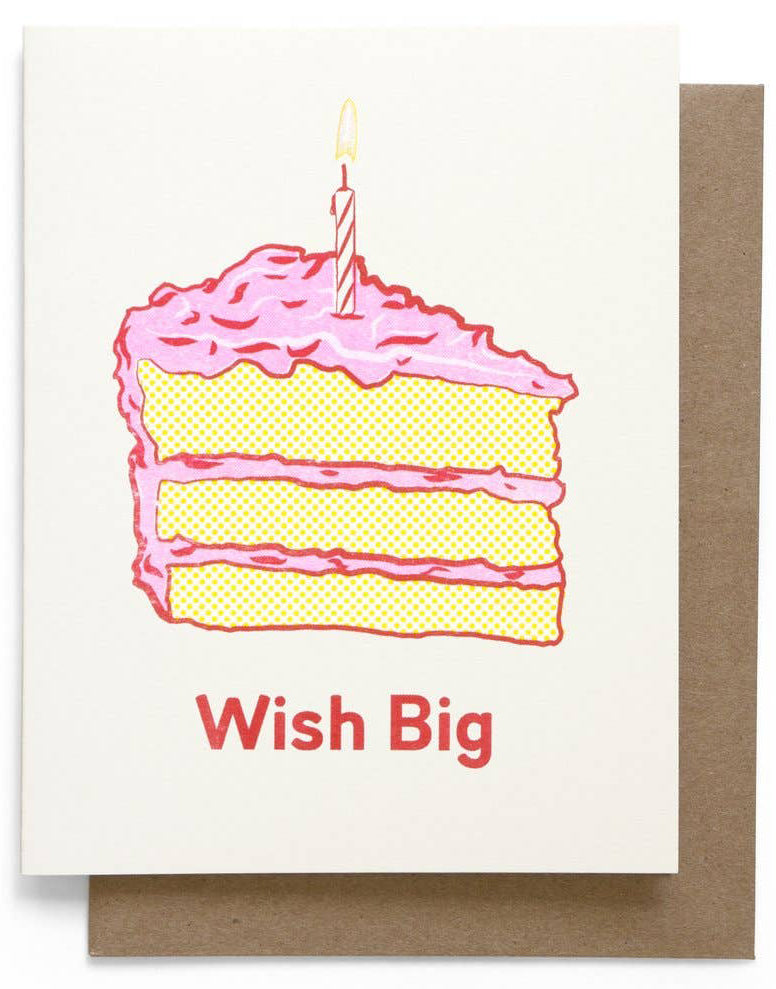 Wish Big Cake Card