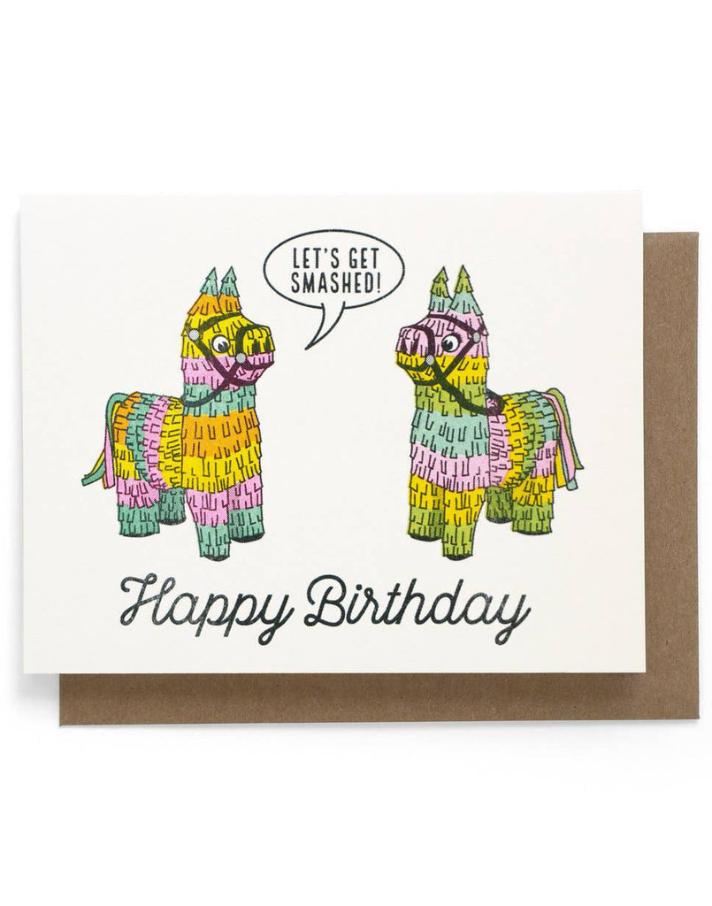 Smashed Piñata Card