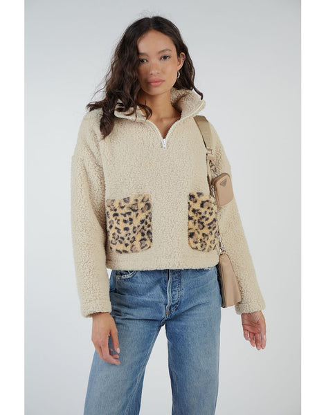 Teddy Leopard Jacket