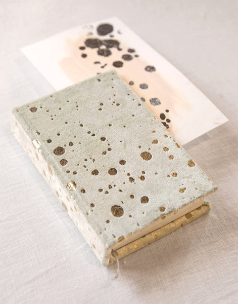 Mint Splatter Velvet Journal