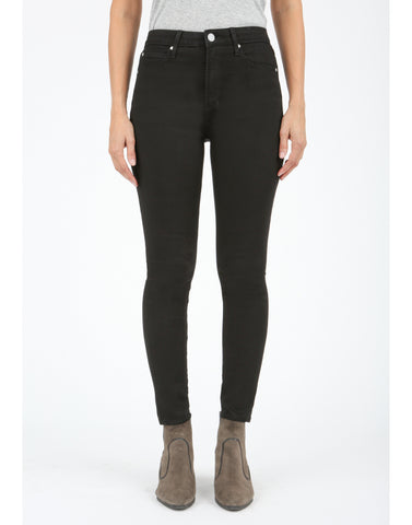 Heather High Rise Black Denim