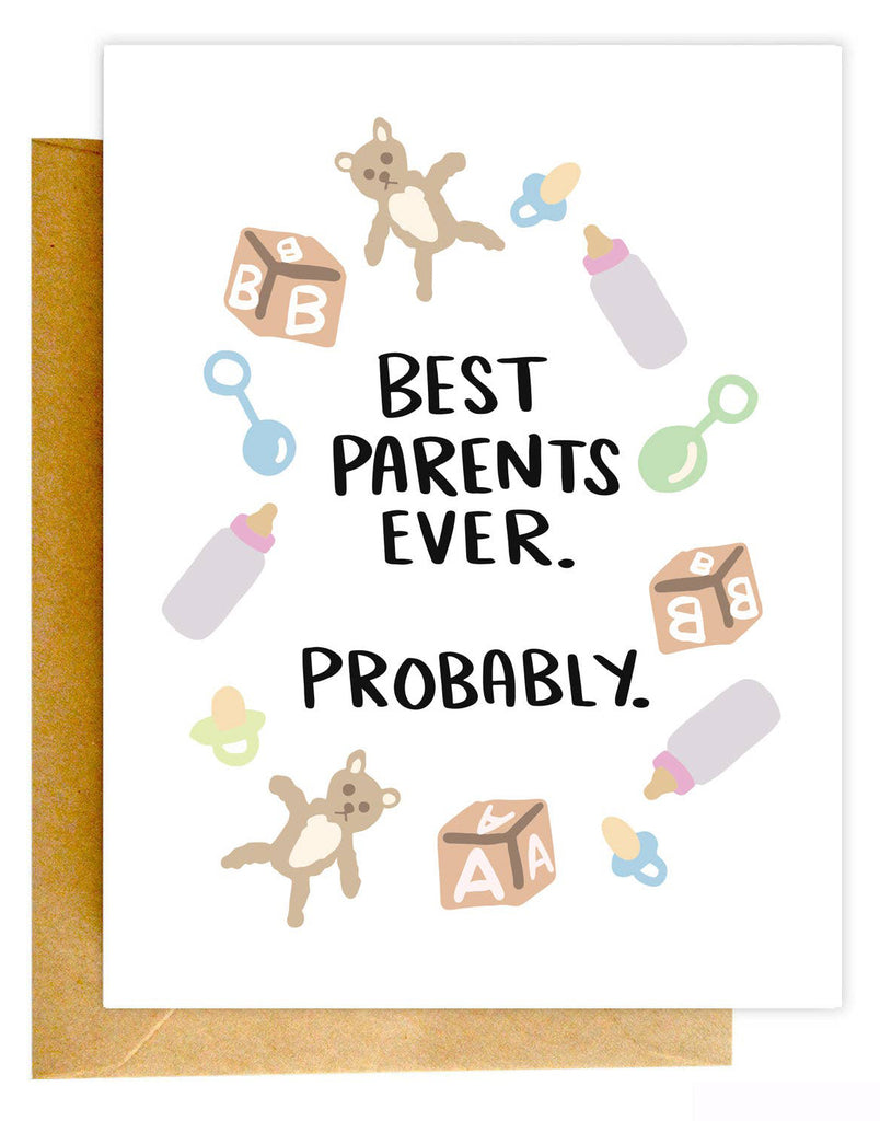Probably Best Parents Card