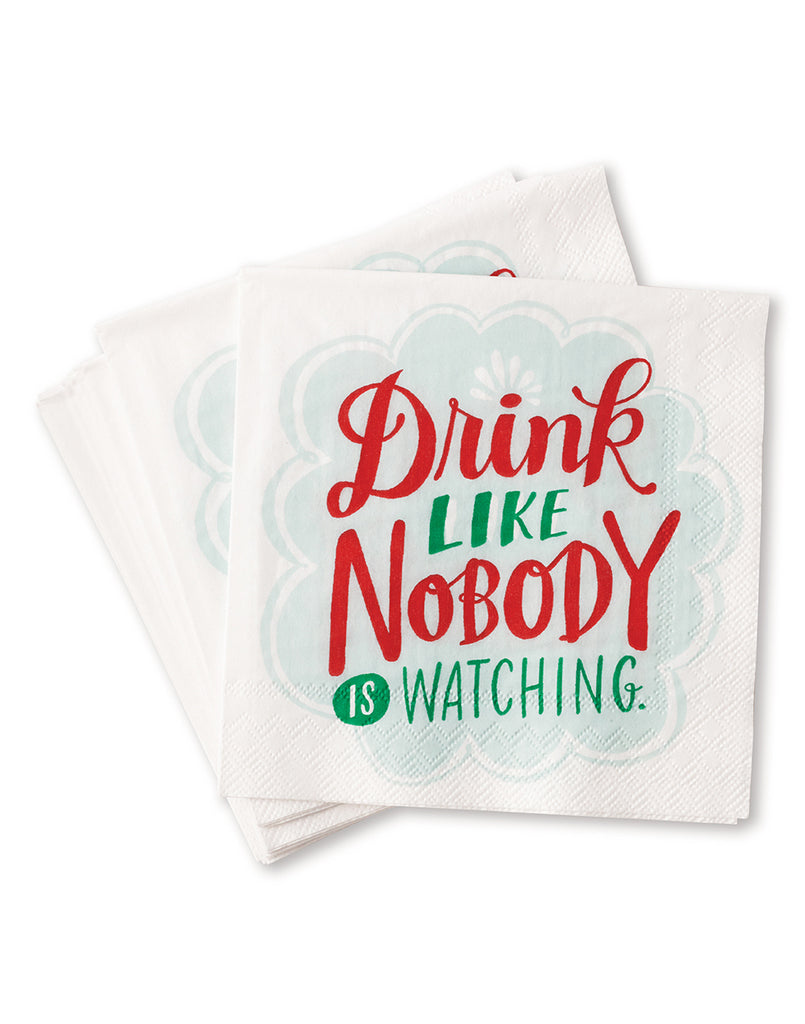 Drink Like Nobody's Watching Napkins