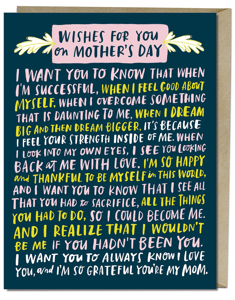 Wishes For Mother's Day Card