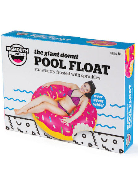 Pink Donut Pool Float