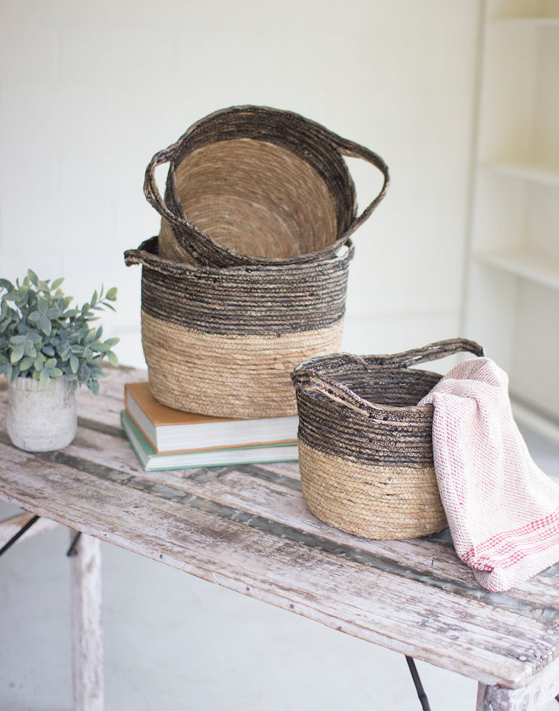 Brown and Tan Woven Basket