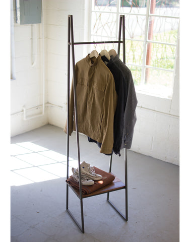A-Frame Clothing Rack w/ Shelf