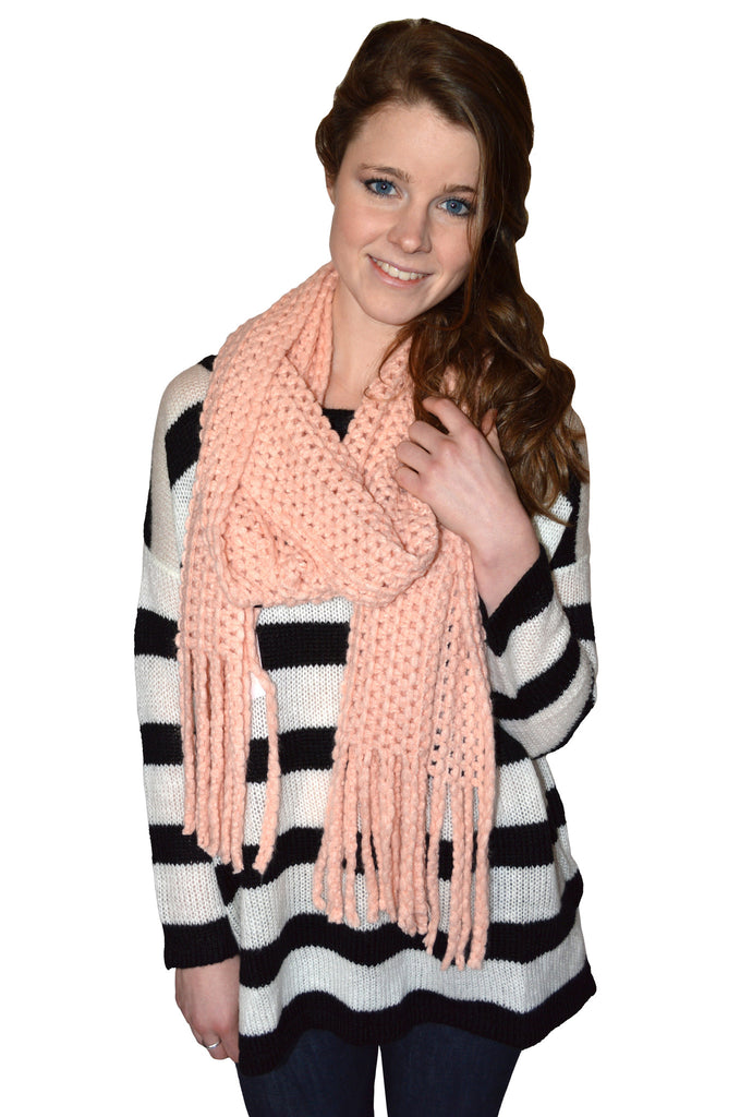 Knitted Light Pink Scarf