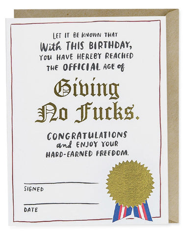 Birthday Decree Card