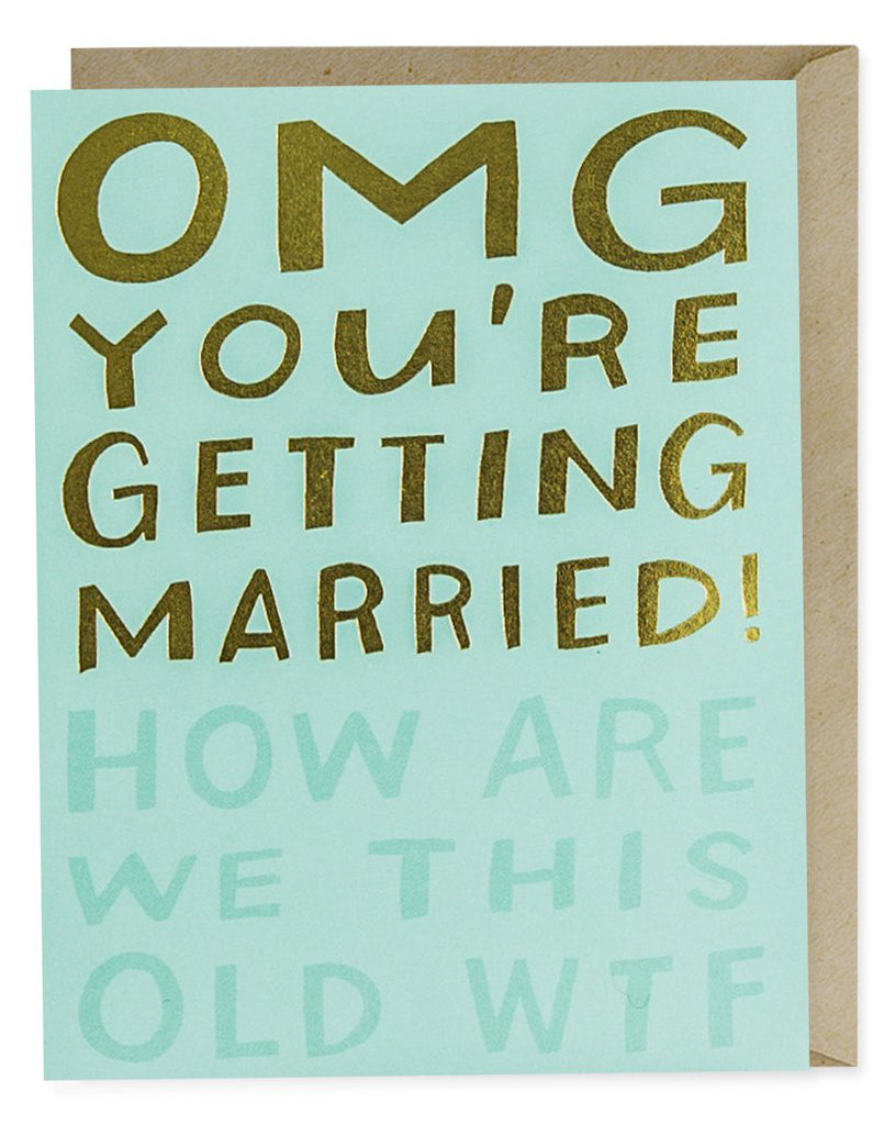 OMG Married WTF Card