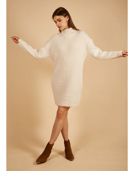 Snowy Morning Sweater Dress