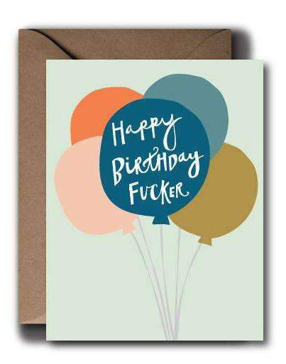 Birthday Balloons Card