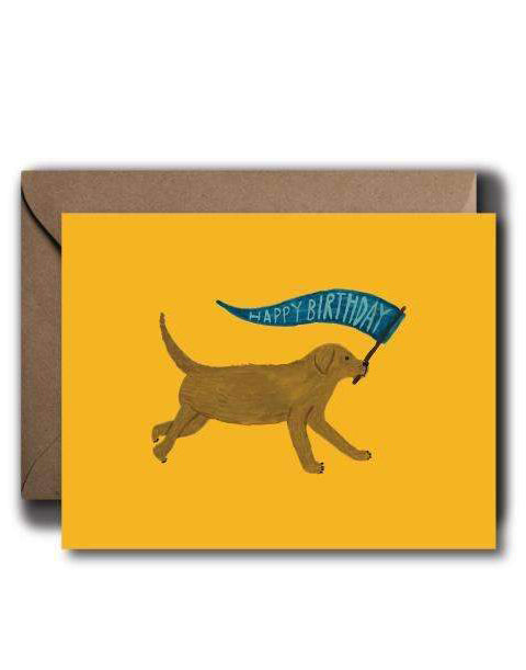Yellow Lab Birthday Card