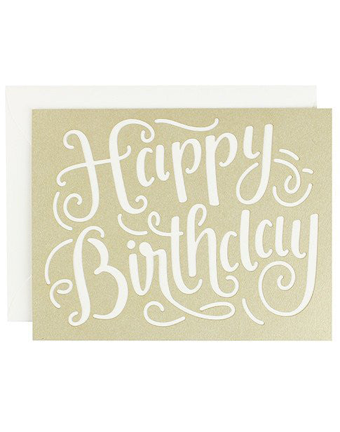 Happy Birthday Laser Cut Card