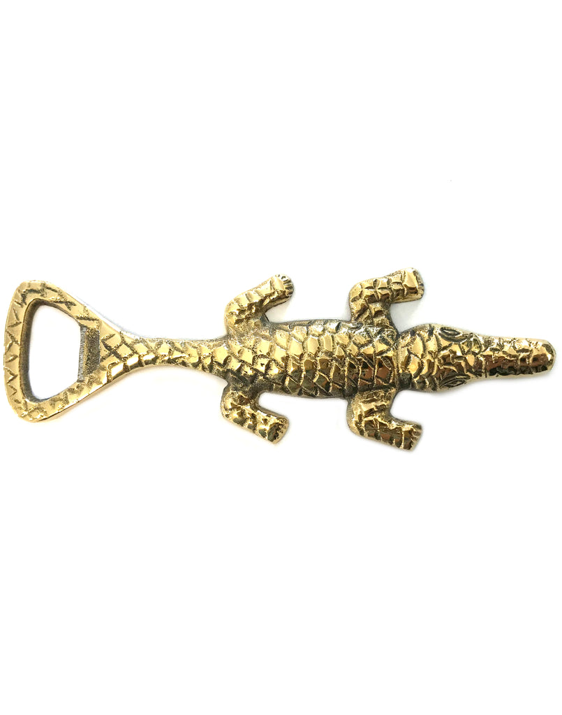 Gold Alligator Bottle Opener