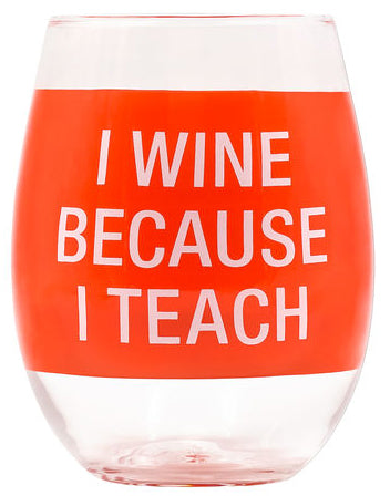 Teach Wine Glass