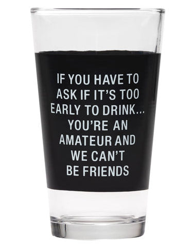 Amateur Pint Glass
