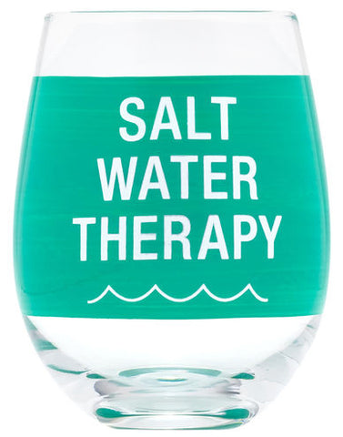 Salt Water Therapy Wine Glass