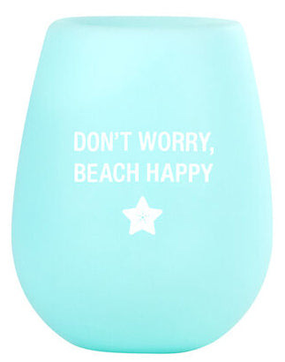 Beach Happy Wine Cup