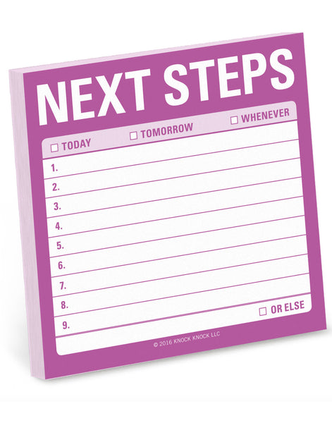 Next Steps Sticky Notes