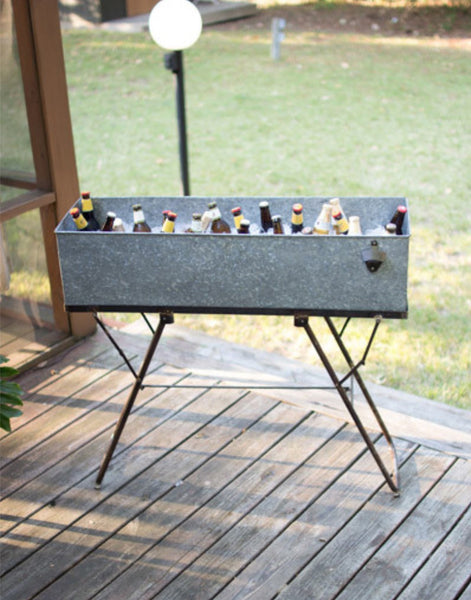 Metal Drink Tub with Stand