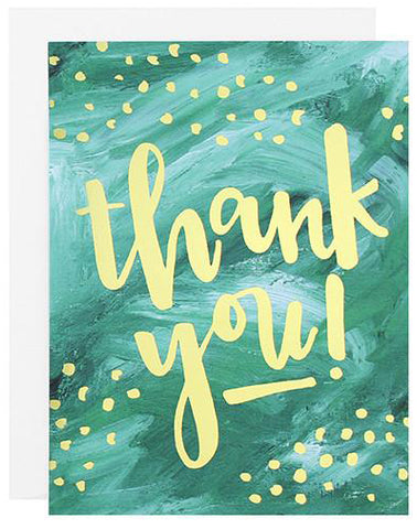 Aqua Thank You Card