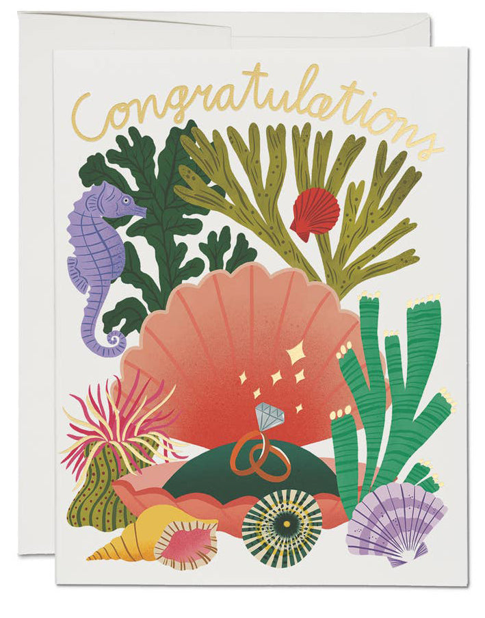Coral Reef Congrats Card