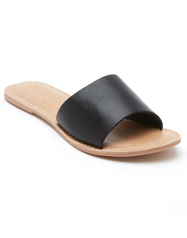 Cabana Black Leather Sandals