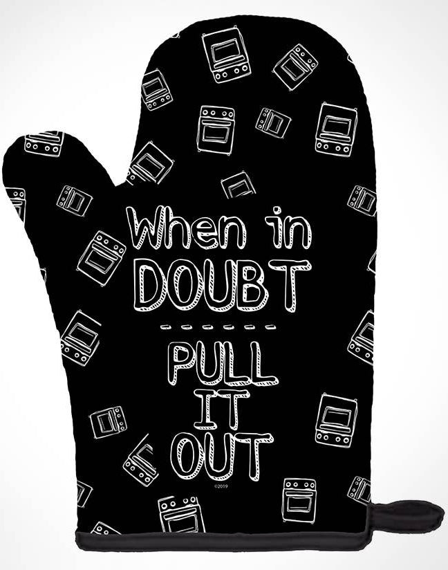 Pull It Out Oven Mitt