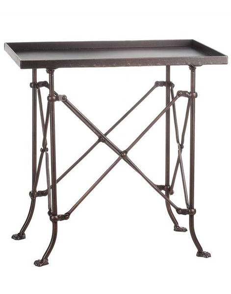 Metal Footed Rectangle Table