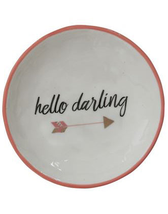 Hello Darling Ceramic Dish