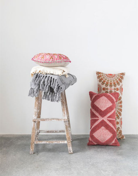In Living Coral Pillow
