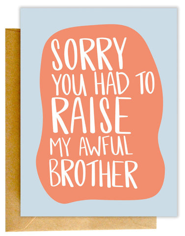 Awful Brother Card