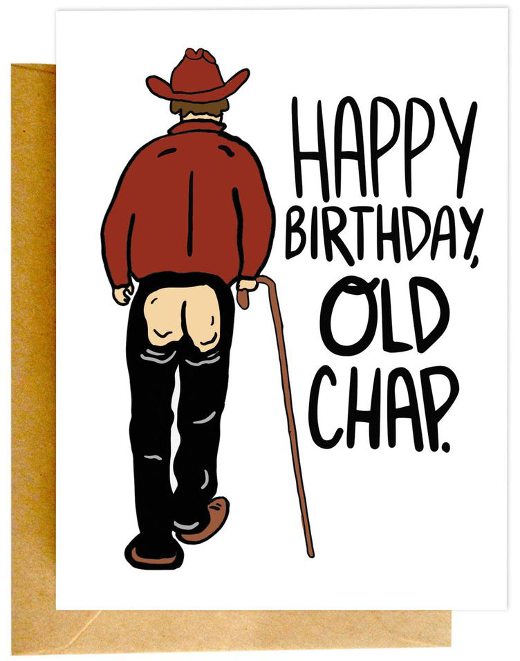 Old Chap Birthday Card