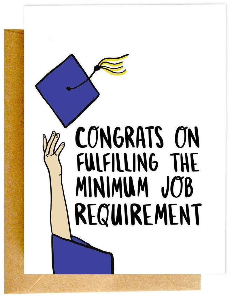 Minimum Job Requirement Card