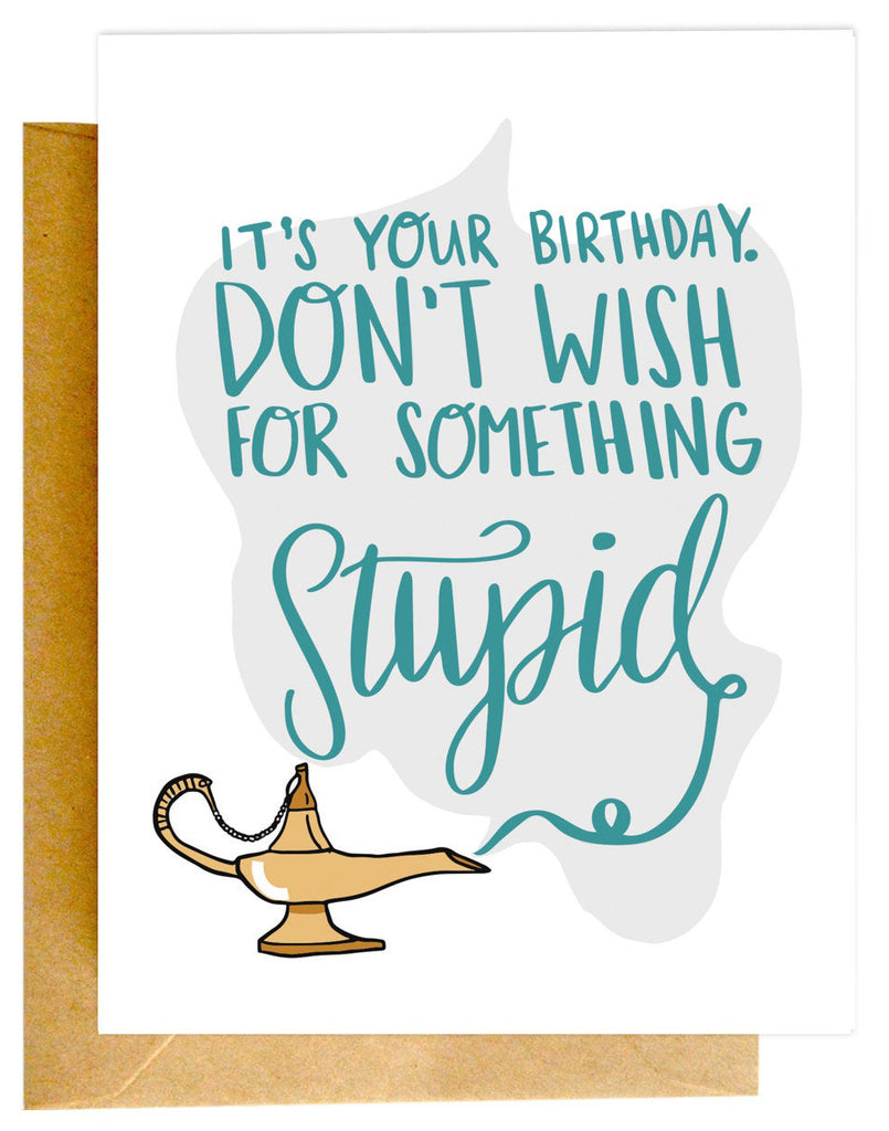 Stupid Wish Card