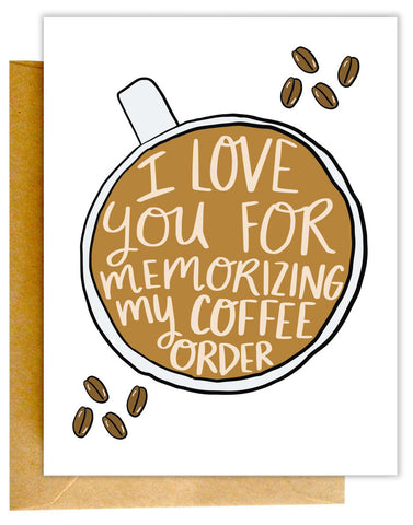 Coffee Order Card