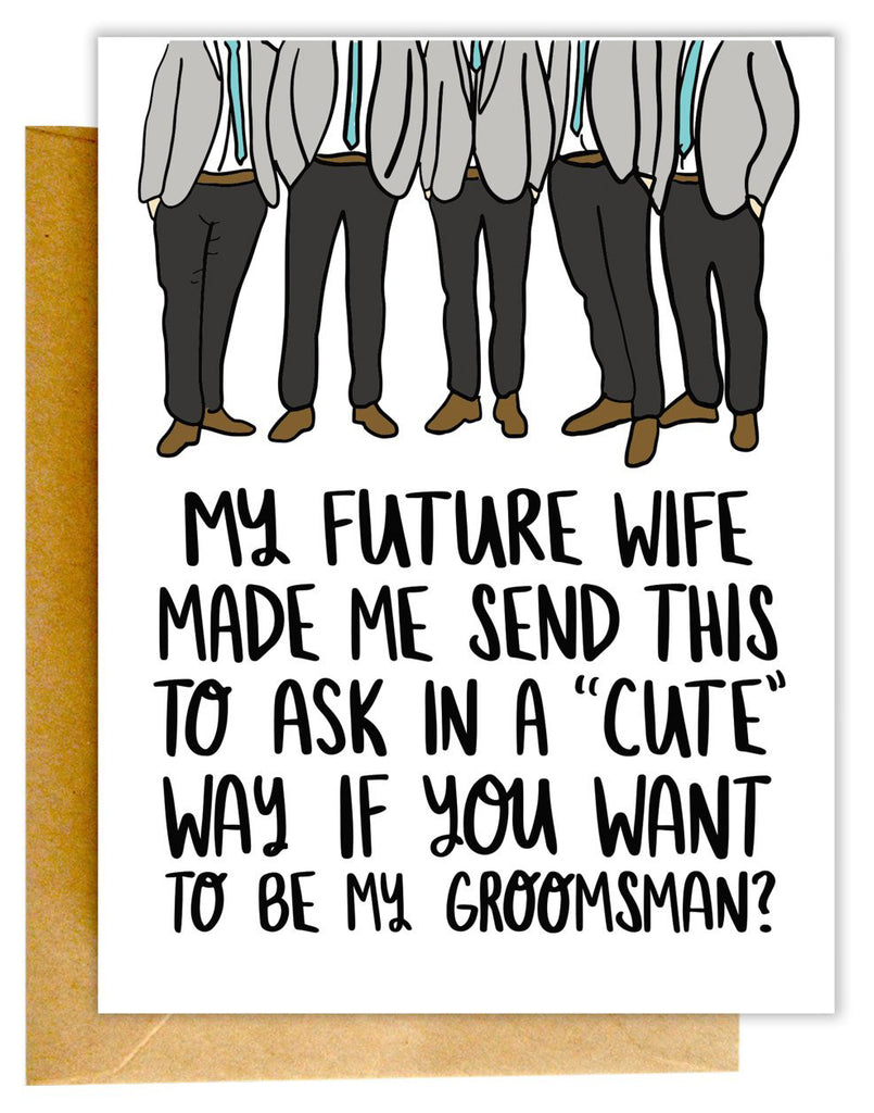 Cute Groomsman Card