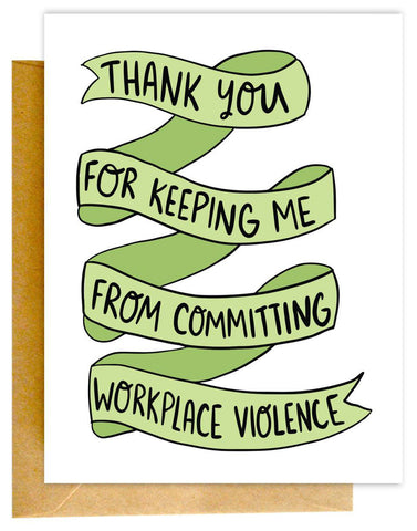 Workplace Violence Card