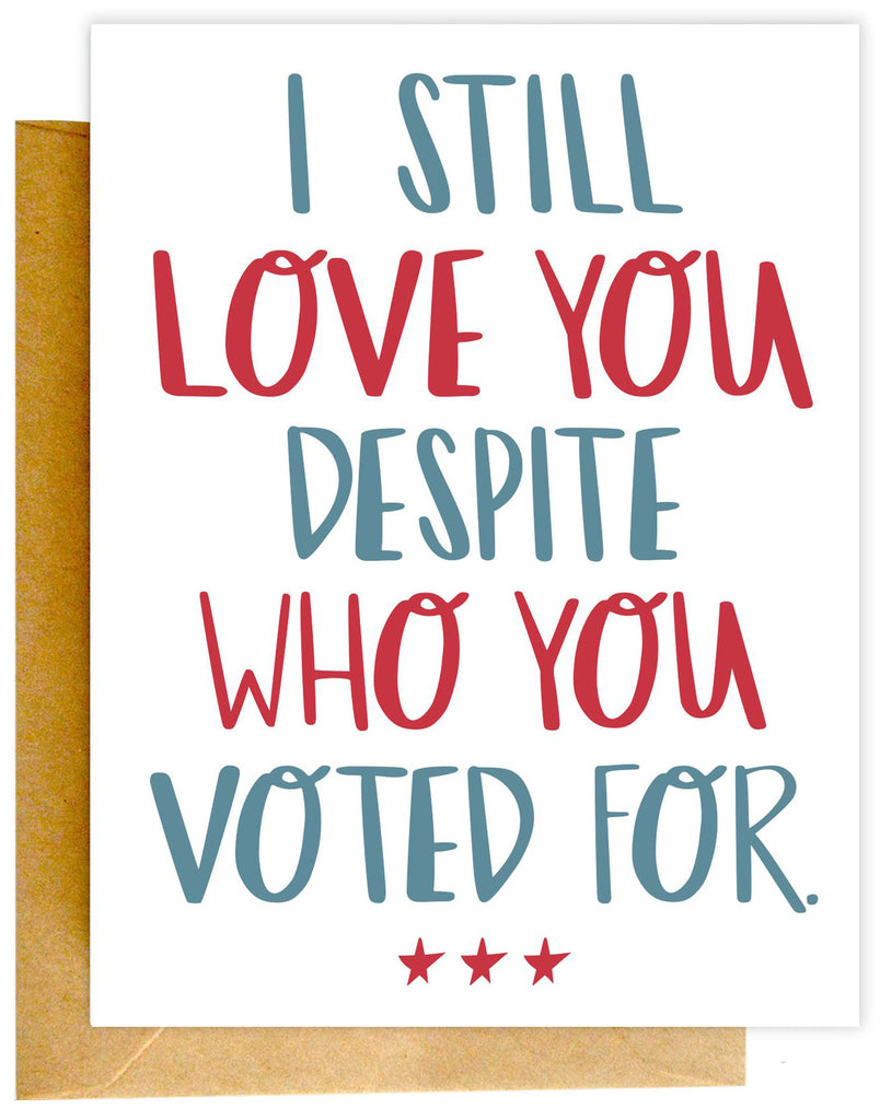 Love You Voted For Card