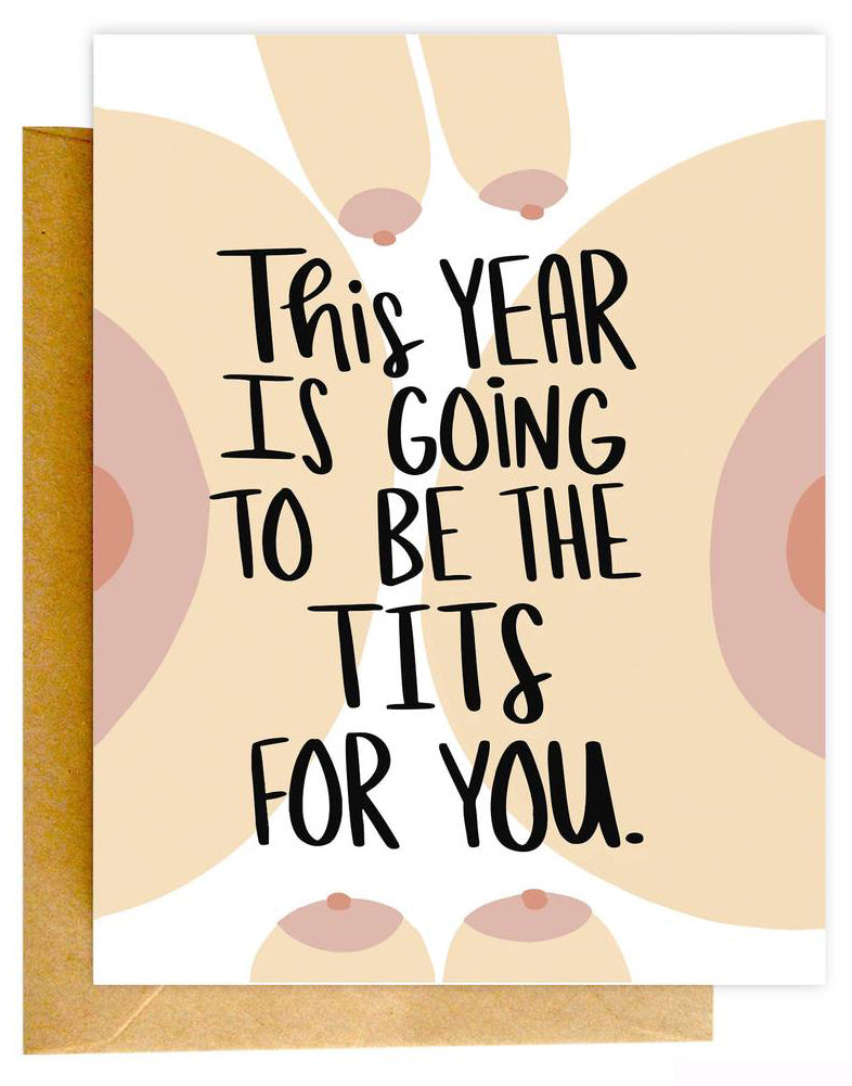This Year The Tits Card