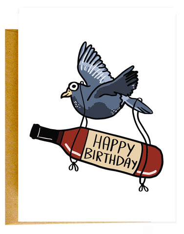 Birthday Pigeon Card